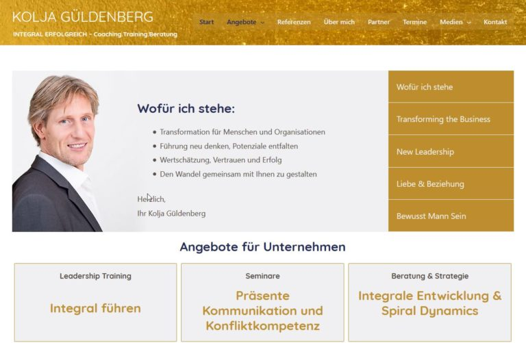 Wordpress Website Kolja Güldenberg